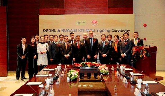 Huawei Deutsche Post DHL IoT partnership